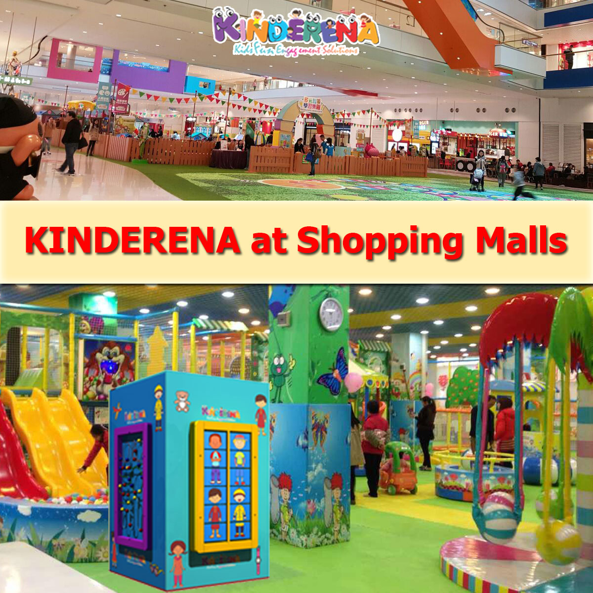 KINDERENA at Shopping Malls